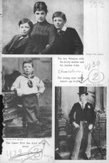 Winston Churchill in childhood photo.