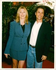 Rob Lowe with his wife Sheryl Berkoff