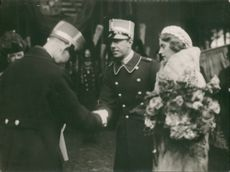 Prince Gustaf Adolf and Princess Sibylla, Wedding picture.