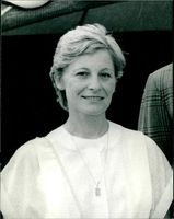 A photo showing Mrs Julia Aitken wife of Timothy Aitken, Chief Executive of TV-AM.