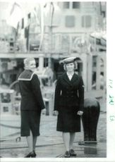 Women's Royal Naval Service:The old and the new rosalyn kennedy and vicky patter.