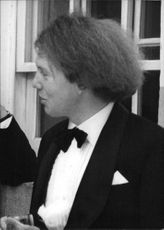 The Hon. Garech Domnagh Browne, talking, in a bow-tie.