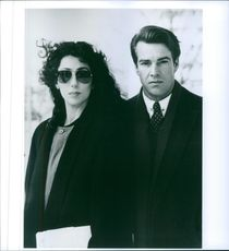"""1987 A scene of Cher and Dennis William Quaid from the  mystery/courtroom film drama """"Suspect""""."""
