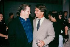 """Singer Meat Loaf and Tony Danza at the premiere of """"12 angry men""""."""
