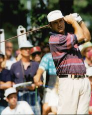Golf player Ross McFarlane under Scandinavian Masters 1995