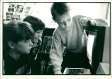 Schools 1988:Donna pratt, claire trewartha and carl mitchell.