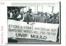 Rally of Zambia's ruling United National Independence Party during Zambia Crisis 1965