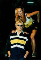 Models showcase the Swedish equipment for the Atlanta Olympic Games in 1996