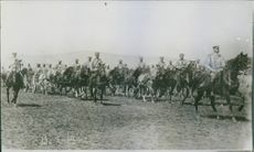 Departure of Bulgarian Artillery for the seat of war. 1912.
