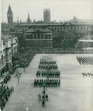 Trooping the Colour (the cavalry ride)