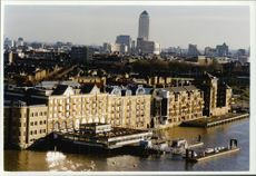 View of Docklands from Tower Bridge