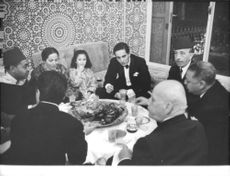 Prince Moulay Abdellah of Morocco and Lamia Solh guests on their wedding. 1961.