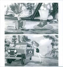 Different scenes from the film Who Framed Roger Rabbit, 1988.