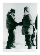 Edmund Hillary, Alpineist and Polar Scientist, during one of his expeditions.