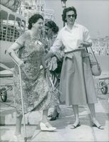 Maria Cristina of Savoy-Aosta photographed with his mother Princess Anne of Orleans.