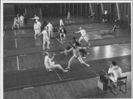 Article image from a fencing competition at Näsby.