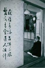 A photo of a small Buddhist temple.