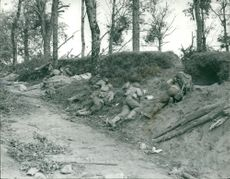 Royal engineers in France -Picture from World War II