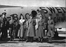A Red Cross delegation with Folke Bernadotte in the lead travels to Luleå to discuss the situation that may arise when evacuating Finnish citizens - 14 September 1944