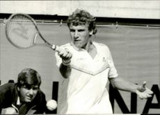 Mats Wilander plays a tennis tournament in Geneva