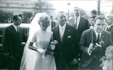 Groom and bride on there wedding ceremony.1970