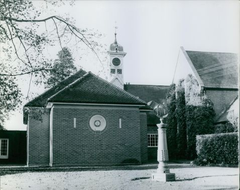 A view of the outside chapel of Benenden School in England, Britain.