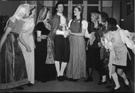 Red Cross youth rehearsing for the soirée - 8 May 1944