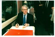 National Lottery: John major on intercity train making his way to taunton in Devon today.