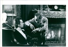 Martin Scorsese and Daniel Day-Lewis on the set of the film, The Age of Innocence.