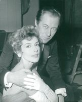 Rex Harrison along with his wife Kay Kendall