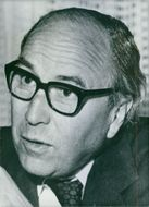 A portrait of British politician and writer, Roy Harris Jenkins.