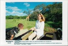 German tennis player Steffi Tomb on safari in South Africa
