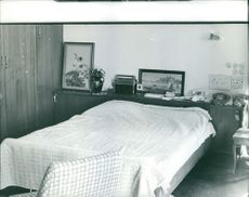 A bedroom in Iraq. February 18, 1963