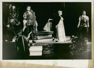 Per Stokholm, Christina Gorne and Tonny Landy in Verid's opera