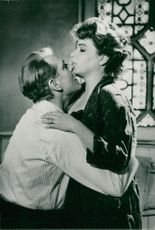 """Simone Signoret and Laurence Olivier in """"Unfair Approach"""""""