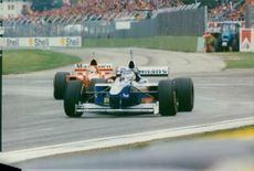 The 1997 San Marino Grand Prix Formula One race having it as a first win by Heinz Harald Frentzen.