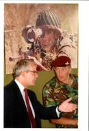 National Lottery: British Prime Minister, John Major, takes with warrant officer Richard Catton.
