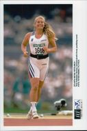Norwegian striker Trine Hattestad during the Olympic Games in Atlanta 1996