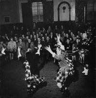Dress Stewart (left) and Hwiting Stewart (right) dancing.
