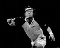Niclas Kroon in action during the Stockholm Open 1989