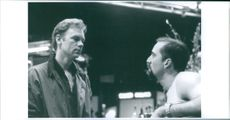 Nicolas Cage and David Caruso in a scene of the movie : Kiss of Death (Dods Kyssen).