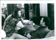 Julie Kavner and Albert Brooks in a scene from the film I'll Do Anything, 1994.