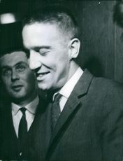Liege, Belgium 1962 Dr. Jacques Casters - Suzanne Vandeput's doctor. Celebrating after he was acquitted with the trial.