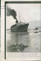 Caronina runs aground of messina.