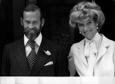 Prince and Princess Michael of Kent after ceremony into the Catholic Church