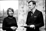 Author Author Tove Jansson Receives Great Prize By Author College Teacher Kjell Espmark at LO Castle at Bantorget