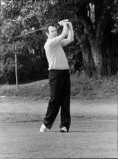 Golf player Magnus Lindberg during Flygt Open 1974