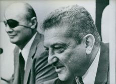 A photo of Weizman and Dayan, 1978.