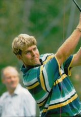 Golf player Per Haugsrud under Scandinavian Masters 19944