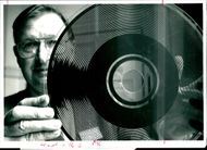 Richardson with a glass record of optical Speaking Clock.